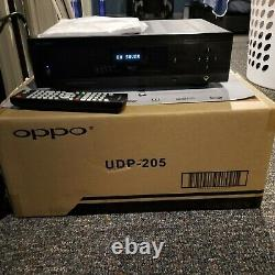 Oppo UDP-205 4K UHD BluRay Player, a Single Owner Unit with Linear Power Supply