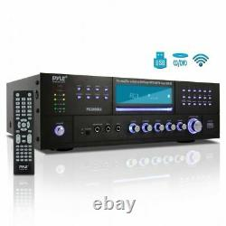 PYLE BLUETOOTH 4.1Ch 3000W AM/FM STEREO RECEIVER AMPLIFIER DVD CD USB/SD AUX-IN