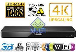 Panasonic DMP-BDT360 Region Free Blu Ray Player Code Free DVD WIFI, USB, 3D, 4K