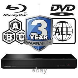 Panasonic DP-UB450EB-K Multi Region All Zone Code Free 4K UHD Blu-ray Player