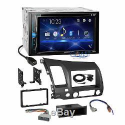 Pioneer 2018 DVD Bluetooth Grey Stereo Dash Kit Harness for 06-11 Honda Civic