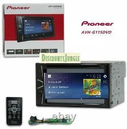 Pioneer AVH-G115DVD 2-DIN 6.2 Touchscreen DVD CD Player Mp3 USB Aux Car Stereo