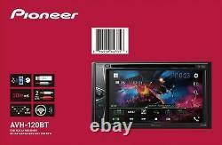 Pioneer AVH120BT 6.2 Inch Double Din DVD/MP3/CD Player BRAND NEW