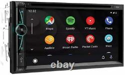 Power Acoustik 2 Din 7 Touchscreen Cd/dvd Player Usb Apple Carplay Android Auto