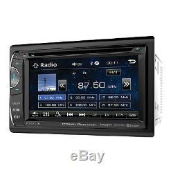 Power Acoustik PD-621XB Double DIN CD/DVD Player 6.2 LCD Bluetooth Sirius XM