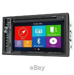 Power Acoustik PDN-626B DOUBLE 2 DIN CD/DVD Player 6.2 GPS Navigation Bluetooth