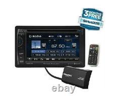 Power Acoustik PH-620SXMB Double DIN CD/DVD Player 6.2 LCD Bluetooth Sirius XM