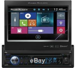 Power Acoustik Pd-724b 1-din Car DVD Cd/mp3 Usb Sd Player Receiver 7 Bluetooth