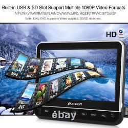 Pumpkin 10.1 HD Dual Screen Car Portable DVD Player AV-IN USB SD HDMI+ Headsets