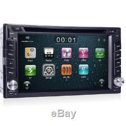 Rear Camera+GPS Nav Double 2 Din Car Stereo Radio DVD CD Player USB/SD In Dash