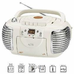 Retro CD-Player mit CD, MP3, Radio, Kassette, USB und AUX In AEG NSR 4377