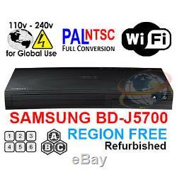 SAMSUNG BD-J5700 Region Free Blu-Ray Player & DVD for WorldWide Use, SMART, WiFi