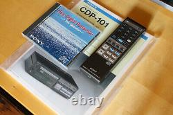 SONY CDP 101 first cd player serviced + new laser instaled + accessoires + BOX