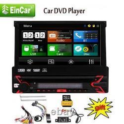 Single 1Din In Dash Stereo Car DVD CD Player GPS Navi Touch Screen Radio+Camera