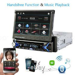 Single DIN 7 Car DVD CD Player Stereo MP5 Flip Out Touch Screen FM/AM Radio USB