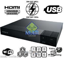 Sony BDP-S3700 Multi Region Code Free DVD & BD ZONE ABC Blu-Ray Disc Player WIFI