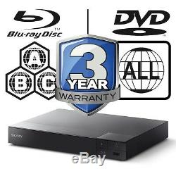 Sony BDP-S6700B All Zone Code Free MultiRegion 4K Upscaling 3D Blu-ray Player
