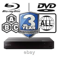 Sony Blu-ray Player Multi Region All Zone Code Free BDPS3500B BDP-S3500B