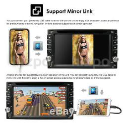 Sony Lens 2DIN CD/DVD Player GPS Navigation Bluetooth Car Stereo Radio with Map