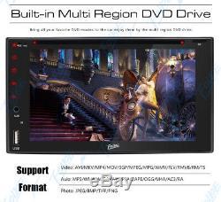 Sony Lens Double 2Din 6.2 Car Stereo Radio DVD CD Player Bluetooth MP3 USB+CCD