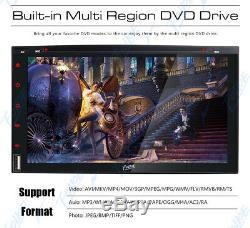 Sony Lens Double Din 7Car Stereo Radio DVD/CD Player Bluetooth TV USB SD Camera