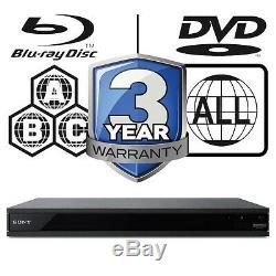 Sony UBP-X800. CEK All Zone Code Free Multi Region 4K Ultra HD Blu-ray Player