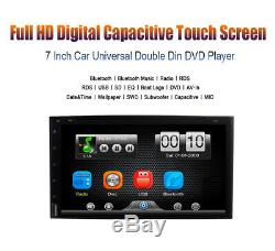 Sony lens 7 Double 2Din Car Stereo Radio DVD Player In Dash Bluetooth CD+CAMERA