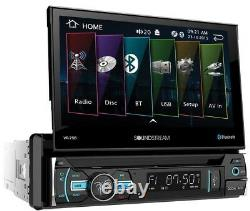 Soundstream 1 Din VR-75B DVD/CD/MP3 Player Flip Up 7 Monitor Bluetooth USB AUX