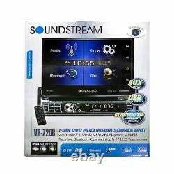 Soundstream 1-din DVD CD Usb Player Bluetooth Car Stereo 7 LCD Monitor Rgb Led