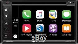 Soundstream Double Din VRCP-65 DVD/CD Player CarPlay Android Phonelink Bluetooth