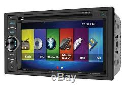 Soundstream VR-64H2B 2 DIN CD/DVD Player 6.2 Bluetooth Android MobileLink 8.2
