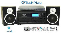 TechPlay ODC128BT BLK 3-Speed Turntable Cassette Player/Recorder CD MP3