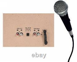 TechPlay ODCK110 Bluetooth Stereo System Karaoke Record Player CD Cassette