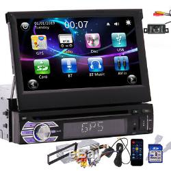 US 1Din Car Stereo GPS Retractable Touchscreen Radio CD DVD Player USB/SD CAMERA