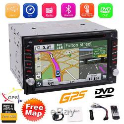 Windows 7 Double 2Din Car Stereo Radio CD DVD Player GPS Navigation Bluetooth